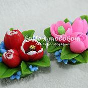 Материалы для творчества handmade. Livemaster - original item Silicone molds for soap Bouquet of tulips. Handmade.