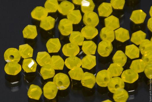 Для украшений ручной работы. Ярмарка Мастеров - ручная работа. Купить Биконусы 3мм Yellow Opal Swarovski 231 Xilion Сваровски 20 шт. Handmade.