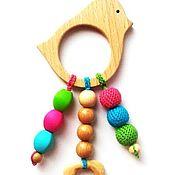 Куклы и игрушки ручной работы. Ярмарка Мастеров - ручная работа Грызунок-прорезыватель Птичка. Handmade.
