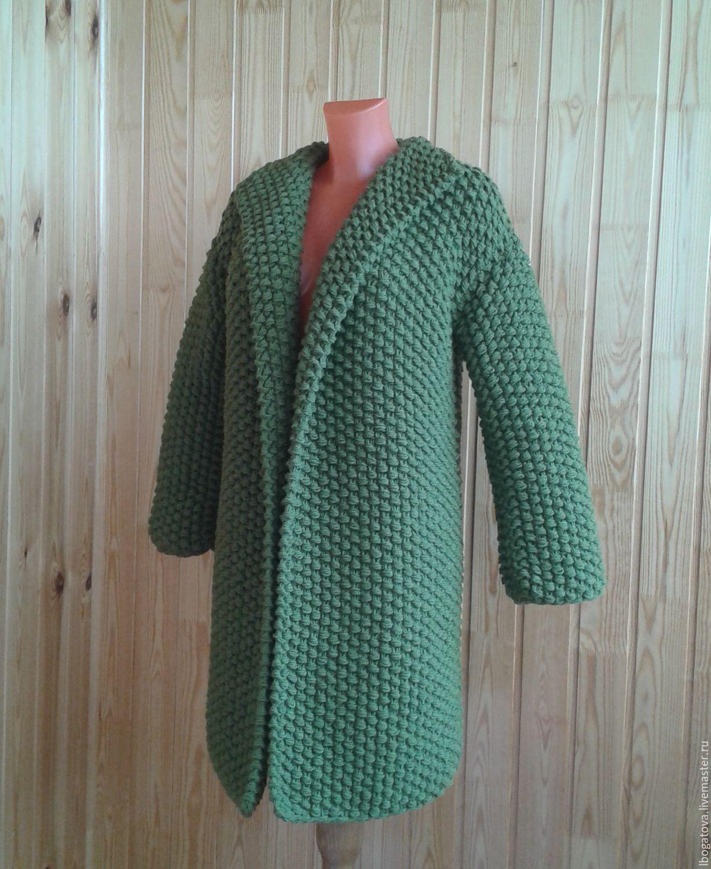 вязаное пальто крупной жемчужной вязки крупный жемчуг купить в