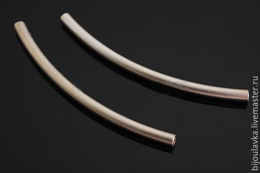 Для украшений ручной работы. Ярмарка Мастеров - ручная работа. Купить Длинный коннектор трубочка, родиевое покрытие, Южная Корея. Handmade.