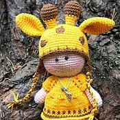 Куклы и игрушки ручной работы. Ярмарка Мастеров - ручная работа ПУПС в костюме жирафа). Handmade.