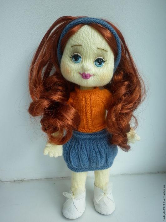 Человечки ручной работы. Ярмарка Мастеров - ручная работа. Купить Кукла ручной работы. Handmade. Коралловый, подарок девушке