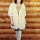 """Верхняя одежда ручной работы. Ярмарка Мастеров - ручная работа. Купить Пальто вязанное """"Тычинка"""". Handmade. Белый, молочное пальто"""