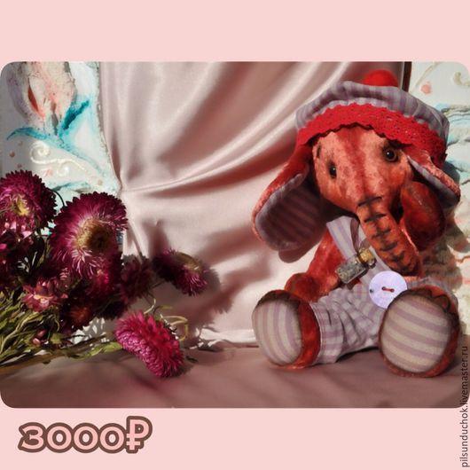 Мишки Тедди ручной работы. Ярмарка Мастеров - ручная работа. Купить Тедди-слоник Французский романтик. Handmade. сделано с любовью
