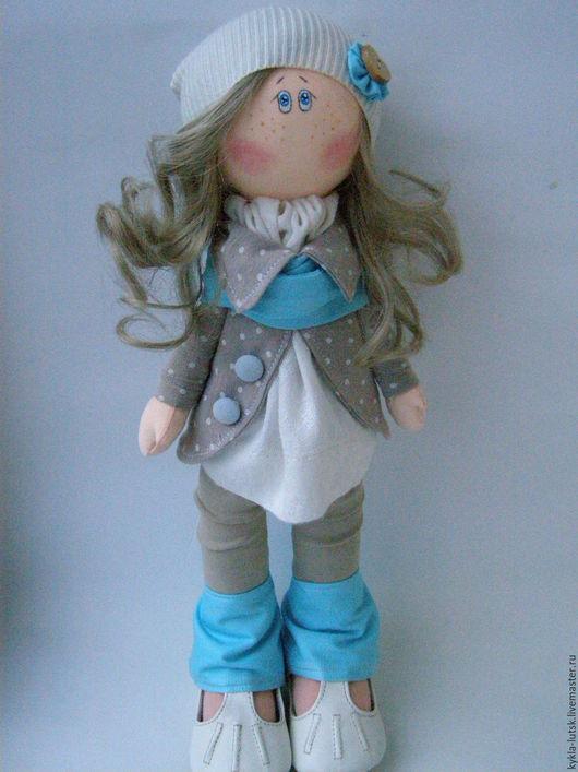 Куклы тыквоголовки ручной работы. Ярмарка Мастеров - ручная работа. Купить интерьерная кукла Яна. Handmade. Бежевый, текстильная кукла