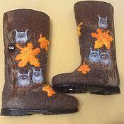 """Обувь ручной работы. Ярмарка Мастеров - ручная работа Валенки """"Совы 2"""". Handmade."""