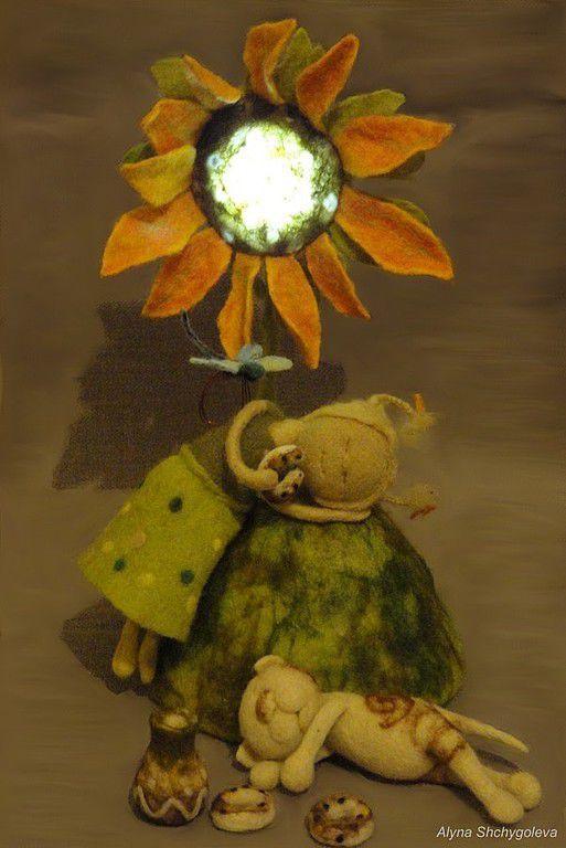 """Коллекция авторских шерстяных композиций со светом """"Ангел в Доме. Истории из Детства"""".\r\n \r\nЧто есть лучше, чище, cкоротечнее и волшебнее Детства? Только одно: ОНО САМО..."""