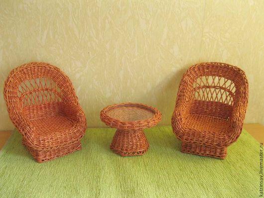 """Кукольный дом ручной работы. Ярмарка Мастеров - ручная работа. Купить Комплект мебели """"Дачный уют"""". Handmade. Коричневый, детский"""