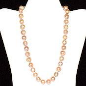Работы для детей, handmade. Livemaster - original item The necklace of natural pink pearls. Handmade.