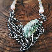 """Украшения ручной работы. Ярмарка Мастеров - ручная работа """"Где искать Лесную Фею?"""" Серебряное ожерелье с пренитом. Handmade."""