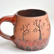 Посуда ручной работы. Ярмарка Мастеров - ручная работа Кружка с деревьями. Handmade.