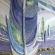 """Пейзаж ручной работы. Ярмарка Мастеров - ручная работа. Купить Текстильная картина """"Тишина"""". Handmade. Бледно-сиреневый, пейзаж, голубой"""