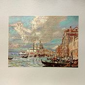 Картины и панно handmade. Livemaster - original item Italian summer landscape Venice pastel on paper. Handmade.