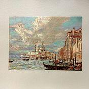 Картины и панно ручной работы. Ярмарка Мастеров - ручная работа Шикарный итальянский летний пейзаж венеция пастелью на бумаге. Handmade.