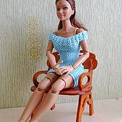 Куклы и игрушки ручной работы. Ярмарка Мастеров - ручная работа Вязаные платья для кукол типа Барби, Лив. Handmade.