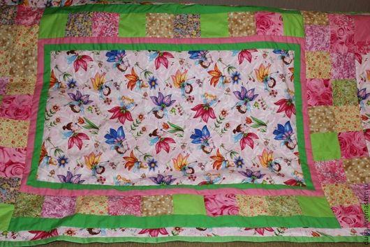 Пледы и одеяла ручной работы. Ярмарка Мастеров - ручная работа. Купить «Мечта для девочки» № 341. Handmade. Розовый, салатовый