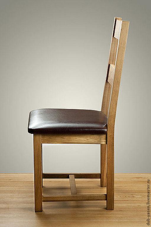 """Мебель ручной работы. Ярмарка Мастеров - ручная работа. Купить Стул из дуба """"Шале"""". Handmade. Коричневый, деревянный стул, столовая"""
