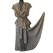 Одежда ручной работы. Ярмарка Мастеров - ручная работа Костюм из шелка с юбкой-гофре. Handmade.