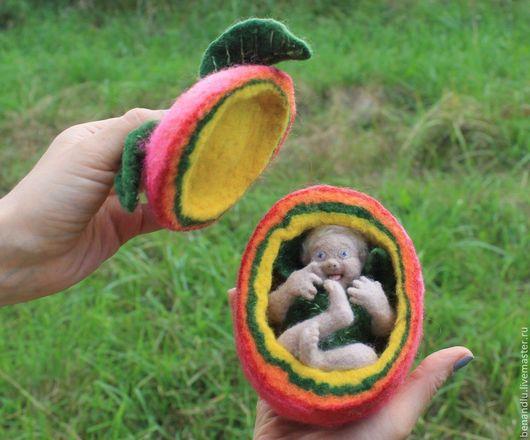 """Шкатулки ручной работы. Ярмарка Мастеров - ручная работа. Купить Кукла из шерсти """"Яблочный ангел"""". Handmade. Яблоко, шкатулка для мелочей"""