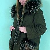 Одежда ручной работы. Ярмарка Мастеров - ручная работа Пальто с мехом енота. Handmade.