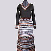 Одежда ручной работы. Ярмарка Мастеров - ручная работа Платье перуанское коричневое макси. Handmade.