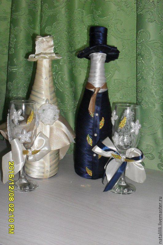 Цены разные, но доступные. `Одежда` для бутылок стоит в пределах 500р. Для фужеров также можно сделать съемную `одежду` (договоримся).