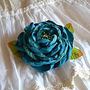 Украшения handmade. Livemaster - original item rose brooch turquoise