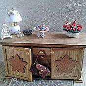 Куклы и игрушки handmade. Livemaster - original item Wooden chest of drawers in doll house - Furniture for dolls. Handmade.