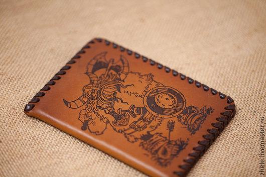 """Обложки ручной работы. Ярмарка Мастеров - ручная работа. Купить Обложка для паспорта из кожи """"Викинг"""". Handmade. Коричневый, обложка для паспорта"""
