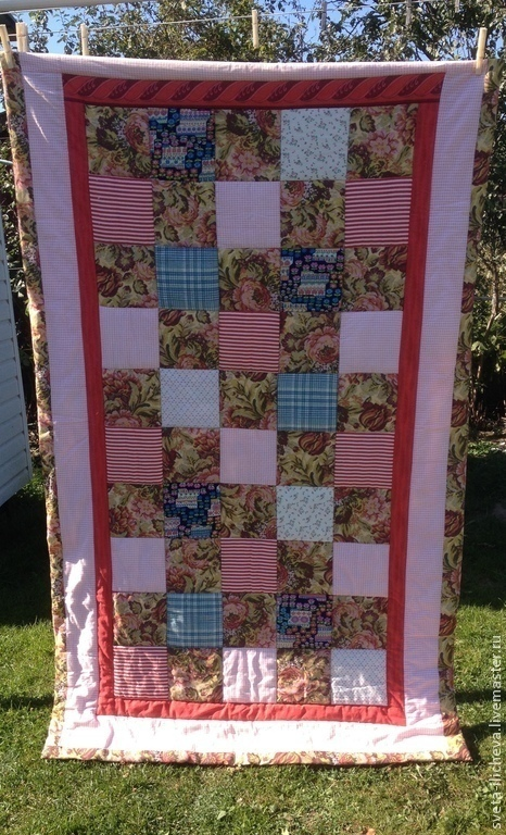 Текстиль, ковры ручной работы. Ярмарка Мастеров - ручная работа. Купить Лоскутное покрывало. Handmade. Лоскутное шитье, лоскутная техника