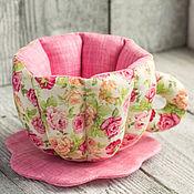 Посуда ручной работы. Ярмарка Мастеров - ручная работа Подарок на 8 марта Текстильная посуда Кружечки и Чайник. Handmade.