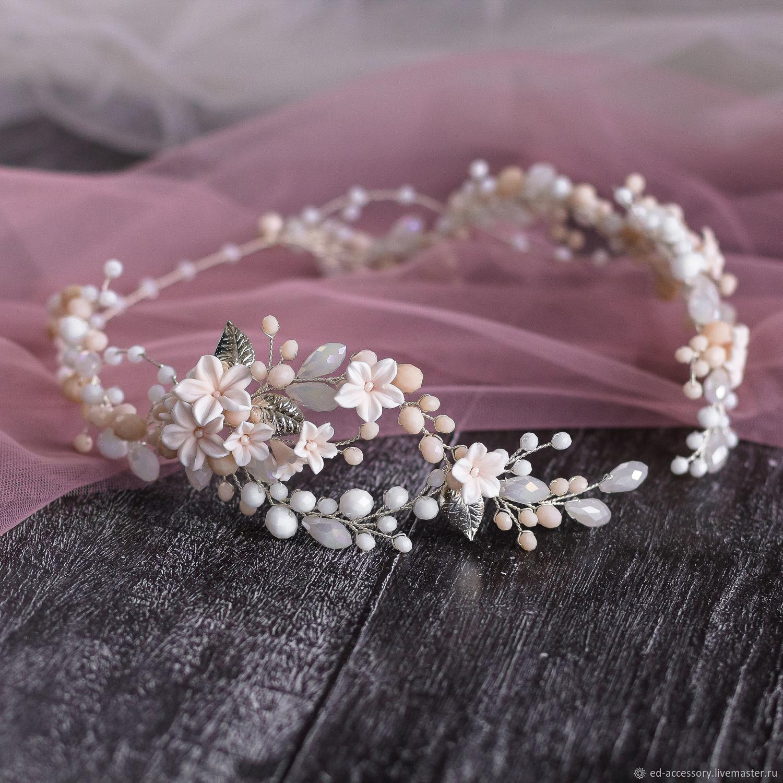 Украшения: Нежный венок с цветами, Свадебные украшения, Барнаул, Фото №1