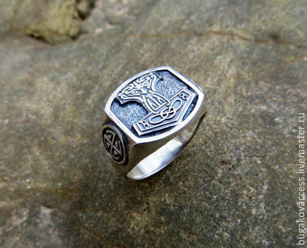The ring of the hammer of Thor silver of 925, Rings, Moscow,  Фото №1