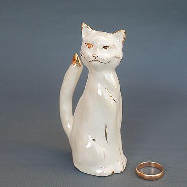 Для дома и интерьера ручной работы. Ярмарка Мастеров - ручная работа Белый кот. Фарфоровая статуэтка. Handmade.