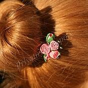 Свадебный салон ручной работы. Ярмарка Мастеров - ручная работа Шпилька для волос Розовый рассвет. Handmade.
