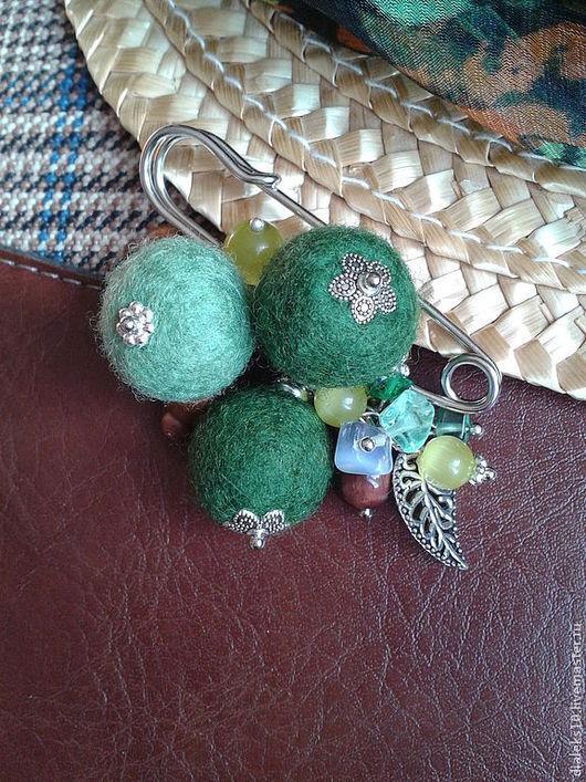 """Броши ручной работы. Ярмарка Мастеров - ручная работа. Купить Брошь-булавка """"Зелёный лес"""". Handmade. Тёмно-зелёный"""