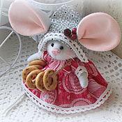Год Крысы 2020 ручной работы. Ярмарка Мастеров - ручная работа Мышка малышка с большими ушами. Handmade.