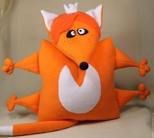 Игрушки животные, ручной работы. Ярмарка Мастеров - ручная работа. Купить Игрушка-подушка Лиса Василиса. Handmade. Лиса игрушка