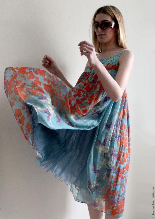 Пляжные платья ручной работы. Ярмарка Мастеров - ручная работа. Купить Платье-сарафан Канары. Handmade. Комбинированный, пляжное платье