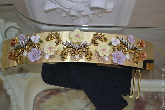 Пояса, ремни ручной работы. Ярмарка Мастеров - ручная работа. Купить ПОЯС NEW Барокко-Flowers  в стиле DOLCE & GABBANA. Handmade.