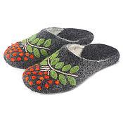Обувь ручной работы handmade. Livemaster - original item Women`s felted felt Slippers made of Merino wool with prevention. Handmade.