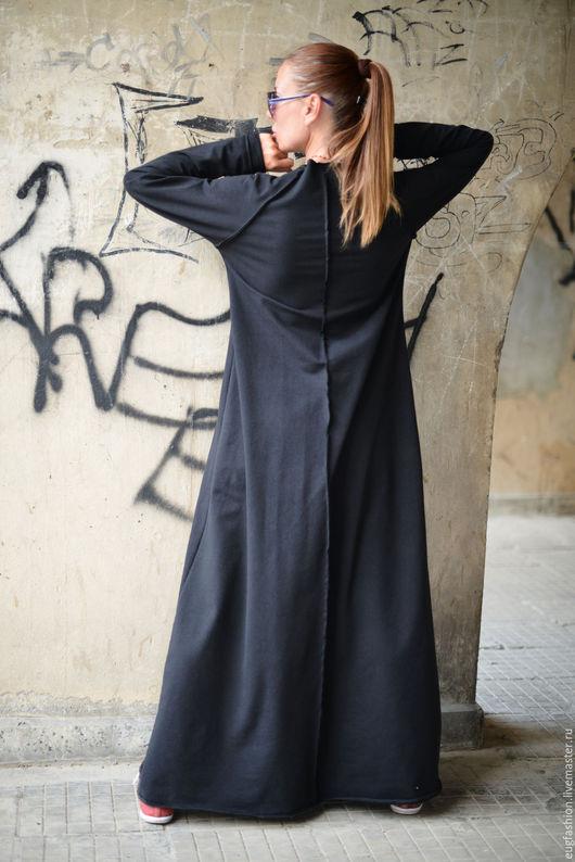 Платье из хлопка. Платье в пол. Длинное платье. Платье с длинным рукавом. Купить платье. Ручная работа. Ярмарка Мастеров.