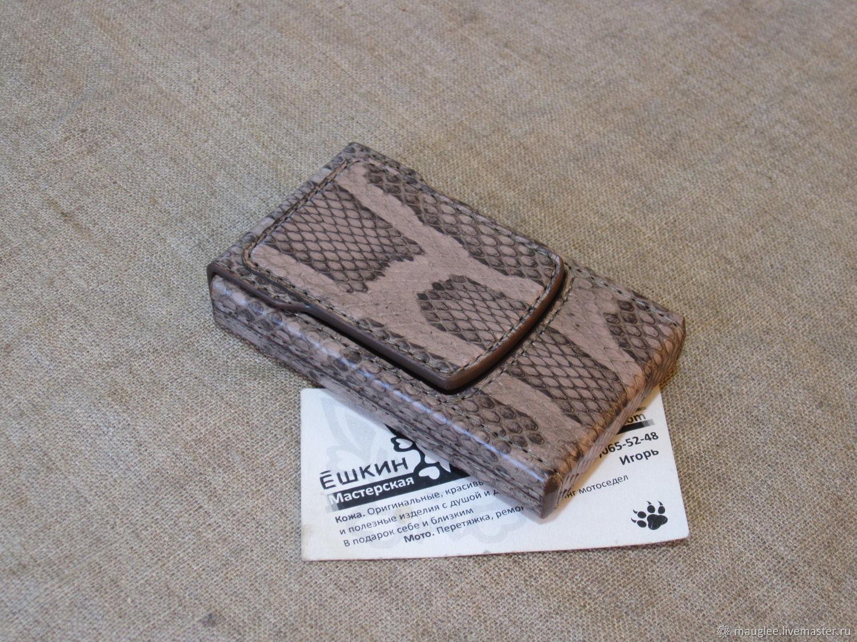 Cigarette case. sigaretta. A snake's skin. Slims.  Thin cigarettes, Cigarette cases, Nizhnij Tagil,  Фото №1