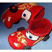 Обувь ручной работы. Ярмарка Мастеров - ручная работа валяные ботиночки,,Машинки``. Handmade.