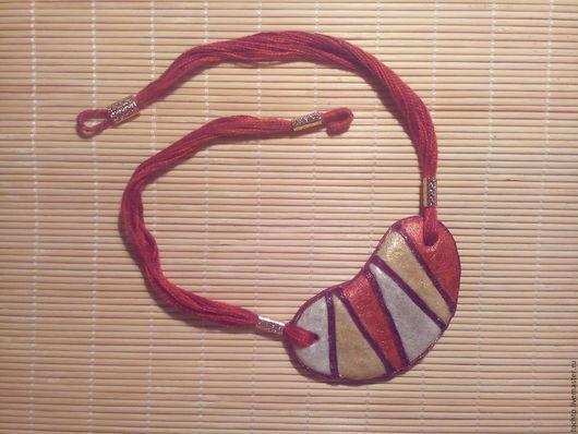 """Кулоны, подвески ручной работы. Ярмарка Мастеров - ручная работа. Купить Колье-подвеска  """"Африканское лето"""". Handmade. Комбинированный, лак"""