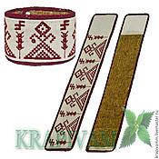 Украшения handmade. Livemaster - original item Nettle cuff bracelet with Slavic symbols Makosh. Handmade.