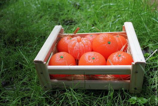 Мыло ручной работы. Ярмарка Мастеров - ручная работа. Купить Ящик с мандаринами - 2. Handmade. Оранжевый, масло миндаля