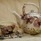 Посуда handmade. Livemaster - original item Kettle and tea pair