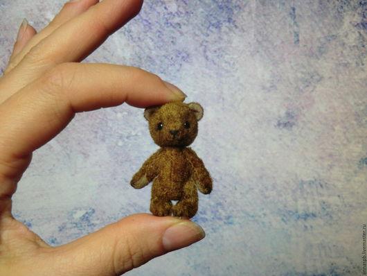 Мишки Тедди ручной работы. Ярмарка Мастеров - ручная работа. Купить Мишка Тимми 4,3 см (заказ). Handmade.